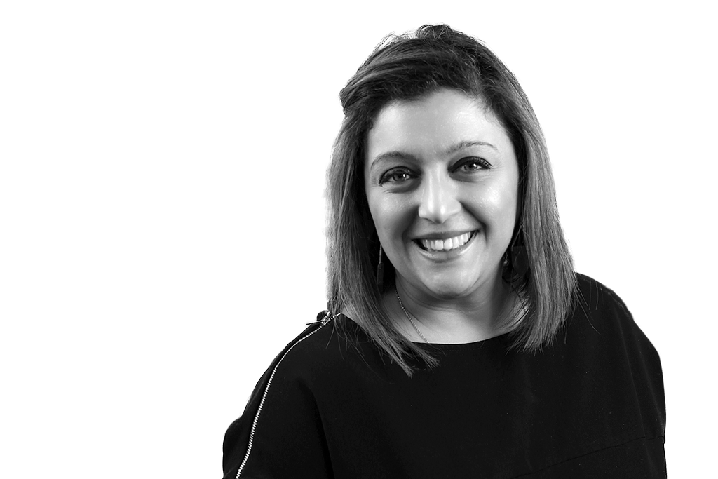 Black and white portrait of Eleanora Tornatore-Mikesh, Chief Experience & Memory Care Officer at  Inspire
