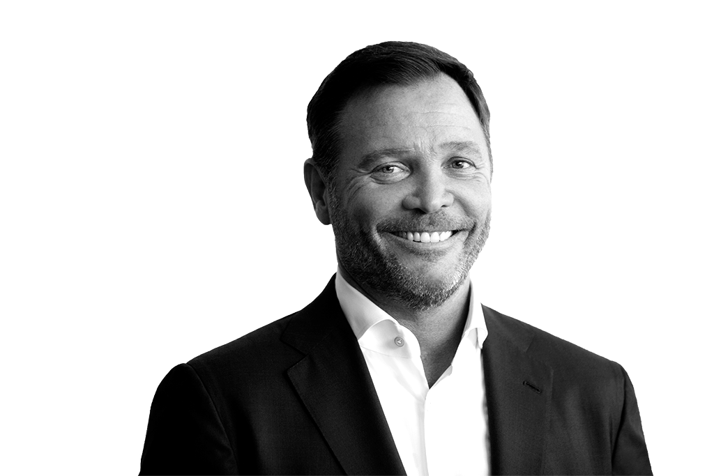Black and white portrait of Gregory Smith, President & CEO of Inspire