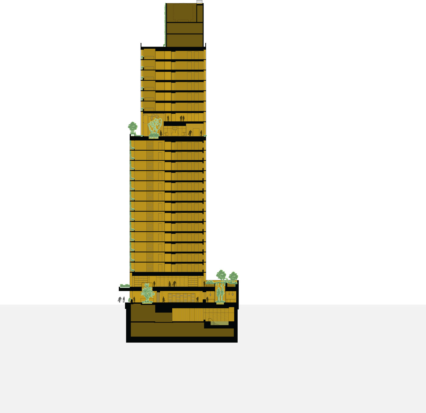 Rendering of the Inspire skyscraper building